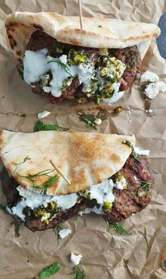 Grilled Lamb Pitas with Mint & Pistachio Pesto / by Vodka & Biscuits