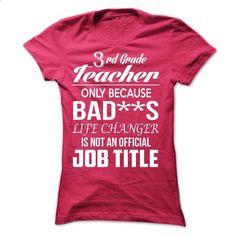 3rd Grade Teacher - teeshirt dress #tshirt print #grey sweater