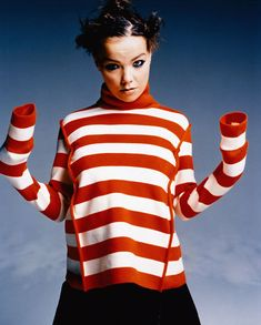 bjork and the knitting experiment, stripes, long sleeves #inspiration #muse #bits