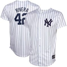 50c31736bbe Majestic Mariano Rivera New York Yankees Youth Replica Screen Jersey - White