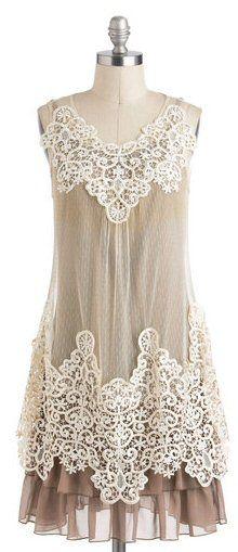 lace & beige short bridesmaid dress | via http://emmalinebride.com/bridesmaids/short-bridesmaid-dress-ideas/