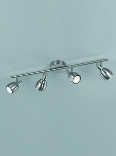 SPOT9004 Tivoli 4 Light Spotlight On A Bar In Satin Nickel Chrome Supplied With 5w
