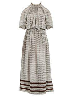 Leela block-print silk-crepe dress | Talitha | MATCHESFASHION.COM