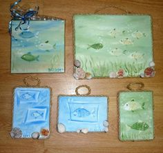 Kleine Ölbilder Als Geschenk Ideeu003cbr /u003eFröhliche Kleine Bilder Für Das Bad,