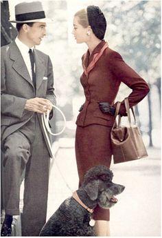 Moda masculina y femenina, Vogue, 1952 #FashionLover #Moda
