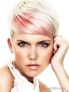 short hair, pink. This I would easily do. Maybe it's next up.