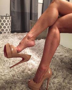 Platform nude heels