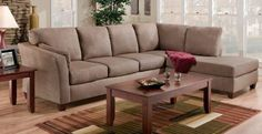 American Furniture Manufacturing 7900 Series Glacier Dark Brown Living Room Set by American Furniture Manufacturing. $1039.99. 100% Polyester in Dark Brown Minimal assembly required Set Includes: Left Side Facing Sofa:82''L x 40''D x 39''H Right Side Facing Chaise: 84''L x 40''D x 39''H 3-Piece Table Set: Cocktail Table: 42''L x 24''D x 17''H 2 End Tables: 24''L x 22''D x 21''H