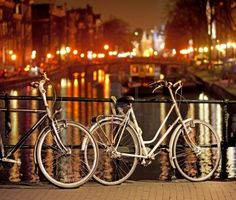 Take a bike ride along the canals at night in Amsterdam - I loved doing this. So pretty.