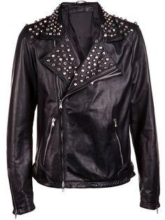 DROME - Leather biker-style jacket 7