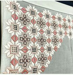 Tammy Jarosz's media content and analytics Hardanger Embroidery, Hand Embroidery Stitches, Hand Embroidery Designs, Ribbon Embroidery, 3d Origami Tutorial, Embroidered Leaves, Drawn Thread, Cross Stitch Heart, Tatting Patterns
