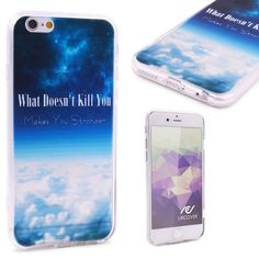 WHAT DOESN'T KILL YOU MAKES YOU STRONGER - Urcover® Semi Softcase Hülle | Apple iPhone 6 / 6s | TPU Muster What dosent kill you | Kamera-Schutz | Handyhülle | Cover Backcase Handyschutz 7,90€