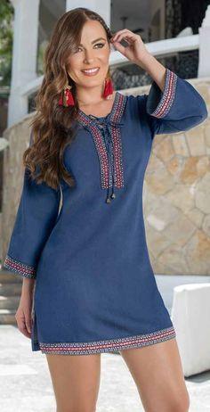 You can wear casual clothes, blue denim dresses, summer clothes. Straight and blue denim clothes with straps. Abaya Fashion, Denim Fashion, Fashion Dresses, Fashion Fashion, Womens Fashion, Fashion Beauty, Blue Denim Dress, Denim Outfit, Casual Dresses