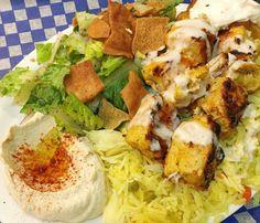 Back at Jerusalem Shawarma for my favourite Shish Tawouk plate. That hummus tho.  #yycsbest #yyceats . . . #instafood #instagood #f52grams #food52 #foodpics #foodstagram #foodgram #yycfood #shishtawouk #hummus #comfortfood #delish #yum #sogood #myfave #latergram
