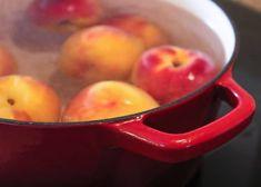 Peach Jam Recipe No Pectin, Canning Vegetables, Fruit Recipes, Jelly, Frozen, Apple, Homemade, Snacks, Sweet