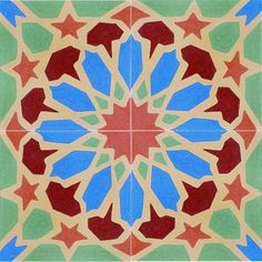 Pentagrams around a dodecagon.  Islamic pattern