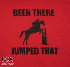 Been There Jumped That Equestrian Jumping Kid's Long Sleeve T-Shirt  , via Etsy.