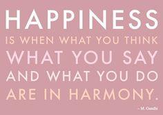Ghandi:  Happiness and Harmony