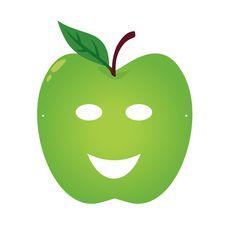 Fruity Party : masque enfant Pomme à télécharger.