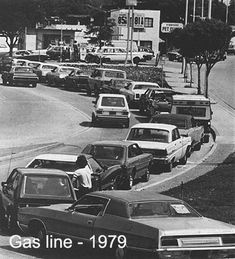 1970's Gas Crisis.  I remember this!   Gas lines were mostly 1 1/2 hour wait.  You often did not get to fill up. Maybe 10 gallons and just it became your turn....yep...the pump was out of gas :(