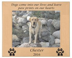 Personalized Laser Engraved Dog Pet Picture by BPLaserEngraving