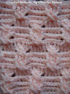"Classical leit motiv, new original version. ""CROCHET FOR THE . AND MORE"" (non-conventional crochet channel): Abso Crochet Puff Flower, Crochet Flower Patterns, Crochet Stitches Patterns, Crochet Designs, Crochet Flowers, Stitch Patterns, Crochet Cable Stitch, Crotchet Stitches, Crochet Motifs"