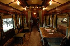 Pullman car at the Adirondack Museum