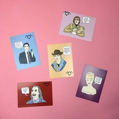 We LOVE these damn fine postcard packs inspired by #TwinPeaks available from http://ift.tt/1ihQVKN with FREE uk shipping!