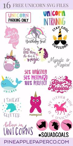 We're sharing 14 Free Unicorn SVG Cut including our very own Meowgical Caticorn cut file. So pull out those Cricuts and Silhouettes and craft up an easy project! Perfect for unicorn themed birthday parties, unicorn shirts and unicorn room decor! Free Font Design, Design Design, House Design, Image Svg, Pyjamas Party, Unicorn Themed Birthday Party, Birthday Parties, Cricut Svg Files Free, Free Svg Cut Files