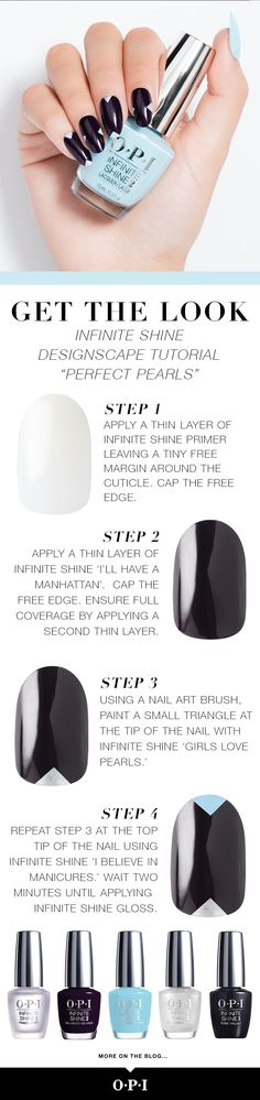 "OPI's Breakfast at Tiffany's collection is now available in Infinite Shine. Let us inspire your holiday nails with ""Perfect Pearls,"" an elegant nail art tutorial using colors from the new Breakfast at Tiffany's collection inspired by the iconic film. Head to the salon to try this classic #OPIBreakfastAtTiffanys look."