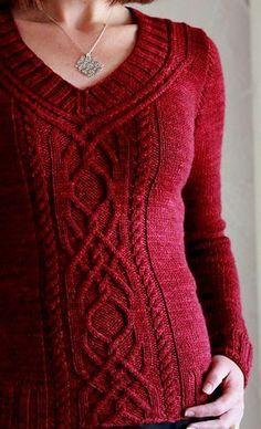 Ravelry: Cabeladabra pattern by Hanna Maciejewska - what a beautiful sweater! Going into my Ravelry queue.