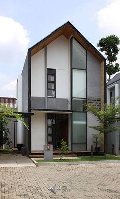 House Siding, House Roof, Facade House, Facade Design, Architecture Design, Exterior Design, Modern Tropical House, Minimal House Design, Gable House