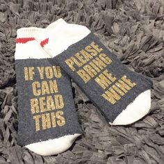 02 - Wine/Beer Socks, Bring me Wine Socks, Funny Socks womens, If you can read this socks, Custom Socks, Mens Socks, Wine Socks, Womens Sock