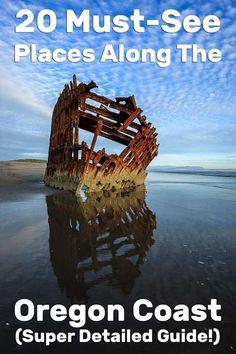 20 Must-See Places Along the Oregon Coast (Super Detailed Guide!) 20 Must-See Places Along the Oregon Coast (Super Detailed Guide! Oregon Coast Roadtrip, Southern Oregon Coast, Oregon Vacation, Oregon Road Trip, West Coast Road Trip, Oregon Trail, Oregon Forest, Coos Bay Oregon, Oregon Dunes