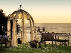 Lana and Tane will have a short ceremony here, the veil will be tossed into the sea and then they will go to the chapel to pray before the party begins....,,,
