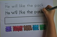 Read it, Trace it, Paste it pages... great for literacy stations