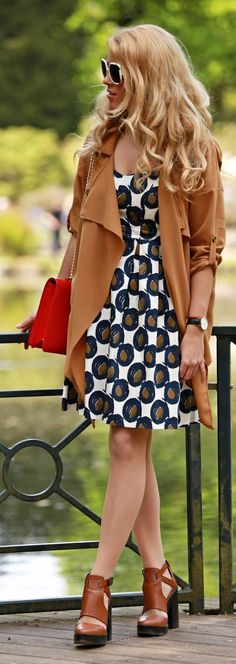 Camel Trench Coat Style by Fashion Painted Dreams