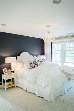 Furnish Your Home In Style With These Furniture Secrets. Buying furniture for your home can be loads of fun or a nightmare. Dream Rooms, Dream Bedroom, Home Bedroom, Master Bedroom, Bedroom Ideas, Bedroom Black, Design Bedroom, Bedroom Inspiration, Bedroom Wall