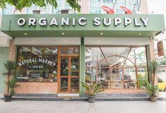 I'd only buy organic food Organic Food Shop, Organic Market, Cafe Shop Design, Cafe Interior Design, Supermarket Design, Retail Store Design, Organic Supermarket, Organic Restaurant, Restaurant Design