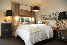 The Upward Bound House by Vanessa De Vargas contemporary bedroom    *Cool, comfortable, retro-modern; unexpected mix of patterns and colors*