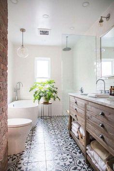 Home Decor Elegant White Bathroom Ideas - An all-white color scheme makes any kind of bathroom a serene resolving hideaway. Decor Elegant White Bathroom Ideas - An all-white color scheme makes any kind of bathroom a serene resolving hideaway. Bathtubs For Small Bathrooms, Retro Bathrooms, Amazing Bathrooms, White Bathrooms, Luxury Bathrooms, Dream Bathrooms, Tiles For Bathrooms, Small Bathroom Bathtub, Retro Bathroom Decor