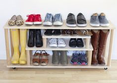 DIY shoe rack // At Home in Love