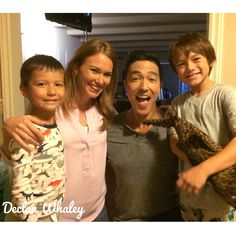 The #Simmons family on set of #criminalmindsbeyondborders #cmbb #declanwhaley #actor #cbs @danielhenneyofficial #danielhenney