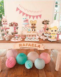 Decoração de Festa Infantil Boneca Lol Surprise Surprise Party Decorations, Kids Party Themes, Birthday Decorations, Party Ideas, Aries Birthday, Happy Party, 6th Birthday Parties, Surprise Birthday, Doll Party