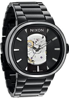 Nixon Capital Automatic All Black Watch from Watchismo.com