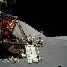 Apollo 17 Hasselblad image from film magazine - & 3 Apollo Space Program, Nasa Space Program, Nasa Missions, Apollo Missions, Moon Missions, Sistema Solar, Programa Apollo, Apollo Spacecraft, Lunar Lander