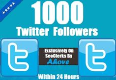 Get 1000+ [Good Quality] Twitter Follower In Your ... for $1