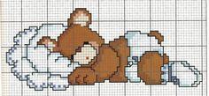 Orso dorme punto croce