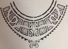 Modèle de Collier Maori pour le Torse des Mecs à se faire Tattoo