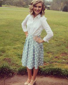 #mint #polkadots #ladylike #separates #daytimeparty